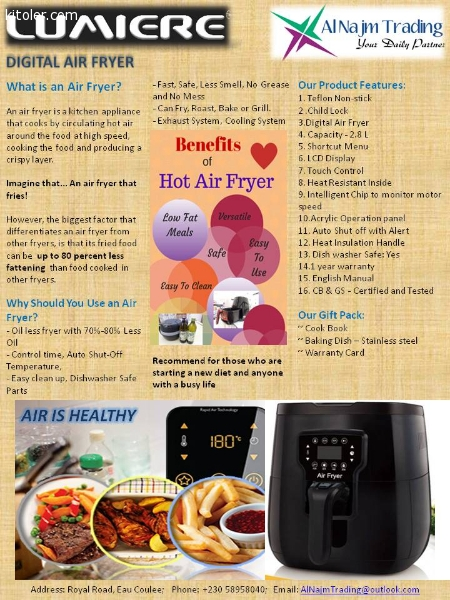 Petites annonces home garden lumiere air fryer for Gardening tools mauritius