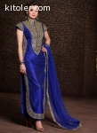 Royal Blue In Banarasi Salwar