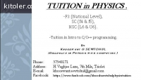 Tuition in PHYSICS at Triolet